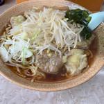 熊公 - ワンタン麺 しょうゆ味 中盛り