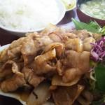 中華料理 阿Q - 豚しょうが焼き850+定食210