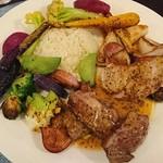 ブラッスリー ジゴ - お肉のワンプレートランチ  子羊と豚