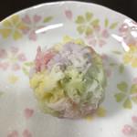 和菓子店 青洋 - 料理写真:きんとん。パステルカラーが彩り鮮やか。