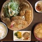 つくば屋 - ミックスフライ定食1000円