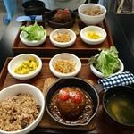 谷根千 az cafe - 限定10食ハンバーグランチ 1300円