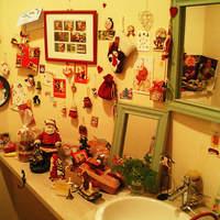 ポム ド テール - ディスプレイされたトイレの中です。