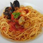 パスタ・デ・パスタ - 【サラダセット*パスタ:海の幸とトマトのスパゲッティ】