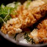 山元麺蔵 - かしわ天丼ミニ
