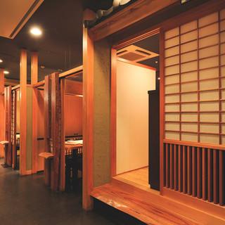 【完全個室】扉付きの完全個室ございます。