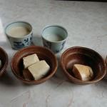 101802800 - おかわり自由のお豆腐と豆乳とミキ