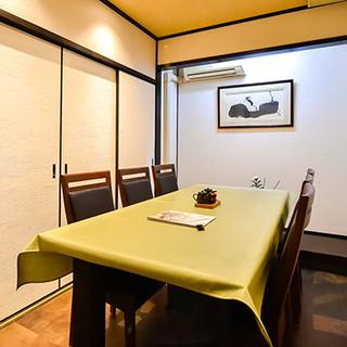 完全個室完備◎落ち着いた空間は、最大60名様まで貸切可能