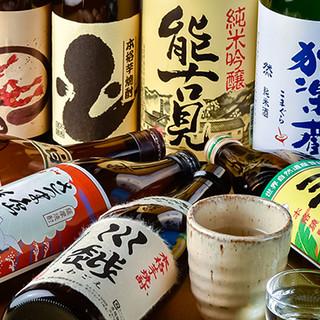 自慢の料理に良く合う、九州の地酒を豊富にご用意しました