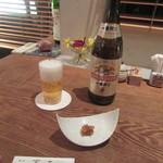 101819885 - ビール・お通しの「そば味噌」
