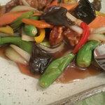 広東料理処お好み焼き 千代 - 酢豚