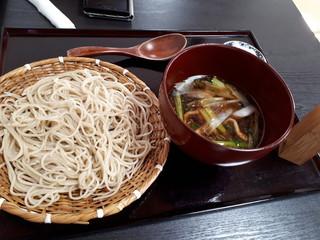 蕎麦・酒 青海波 - 鴨汁せいろ