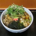 箱根そば - 2011/秋限定「舞茸天と春菊天うどん」です。