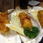 生け簀の甲羅 - 牡蠣フライ
