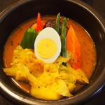 kanakoのスープカレー屋さん - Kanako'sチキングリルonライス(スープカレー)
