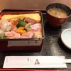 すし森 - 料理写真:おまかせ海鮮重(税込 1,080円)〜海苔の味噌汁、デザート付き