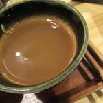 よしじ - 蕎麦湯