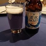サロマ湖鶴雅リゾート - 流氷クラフトビール  わかりづらいが流氷ブルーな地ビール