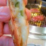 美福苑 - チーズチヂミのアップ