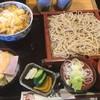 大橋屋 - 料理写真:ミニとじ天丼セット冷たいそば