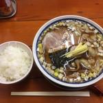 中華そば 亀喜屋 - ワンタン麺(並)と半ライス  計880円
