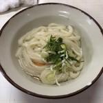 谷川米穀店 - 1杯目:うどん小(温)&たまご