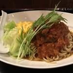 101841309 - 鹿バラ肉岩石トマト煮スパイスカレー和え麺 1200円