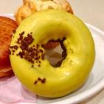 ミスタードーナツ - イエロークランチチョコレート@バナナ風味のチョコドーナツ