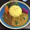 スパイスカレー&カフェ セント - 料理写真:スパイスチキンカレーとマスタードフィッシュの「2種あいがけ」1200円