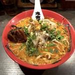 カラシビ味噌らー麺 鬼金棒 - もやしカラシビ味噌らー麺鬼(980円)