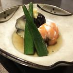 松下 - 海老と茄子の揚げ浸し(600円)