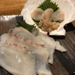 北海道ダイニング マルミ - タコ&ホタテ 刺身