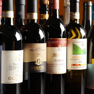 イタリア産にこだわったワイン&クラフトビール。飲み放題あり◎