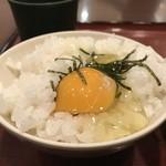 麦まる - この状態で受け取って、テーブル上の出汁醤油を掛けます(2019.2.13)
