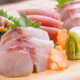 旬の鮮魚から造る、絶品のお刺身!!