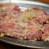 富士屋 - 料理写真:『厚切りタン』¥680円 厚切りかと言われれば微妙な厚さです。柔らかいですが少し歯ごたえはあります。味は濃いめです。