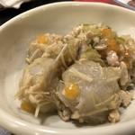 小料理家 せいこ - 里芋の鶏そぼろ煮(600円)・・少し好みの味わいとは異なりましたけれど、里芋や鶏ひき肉もタップリ入っています。