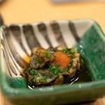 鮨 真菜 - 2019.2 蒸し鮑(肝付き)
