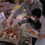 レストラン りんどう - ずわい蟹食べ放題(冬季の期間限定)