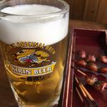 松野屋 - 生ビールもでかいな