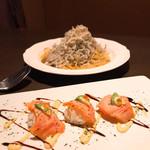 DINING 蔵RA - 手前サーモンとアボカドの手毬寿司