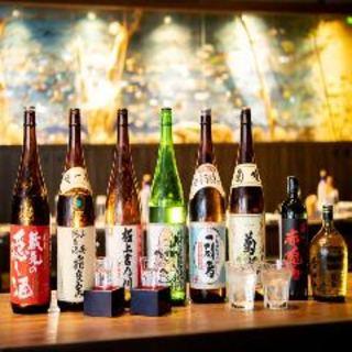 日本各地の地酒と果実酒が平日限定+500円で全て飲み放題