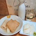 101870342 - 日本酒(2合)+ちくわぶはんぺんさつま揚げ+昔ながらの手造り蒲鉾