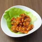 大衆鶏焼肉 鶏とし - アサリチャンジャ