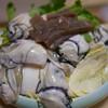 かき峰 - 料理写真:鍋の牡蠣と野菜(二人分)