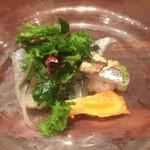 海鮮中国料理黄河 - 中華風お刺身というかカルパッチョ