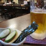 そば処 福島屋 - ビールとお通し