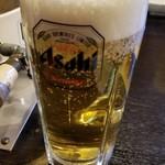 焼肉 充 - 先ずは生ビール!