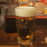 ラーメン 空 - 生ビール