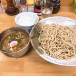 麺屋 楓華 - 料理写真:つけ麺(中盛り 300g)750円   &  白ご飯 50円